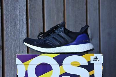 2cea291860b ADIDAS ULTRA BOOST 1.0 Og Black purple! Uk7 us7.5! New 2018 G28319 ...