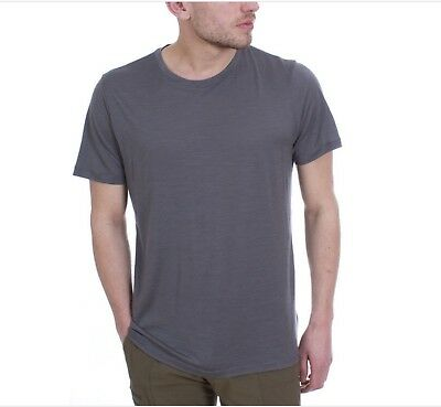 Icebreaker Tech Lite Short Sleeve Crewe Men T-Shirt Kurzarmshirt Herren metal Camping & Outdoor Bekleidung