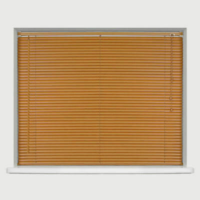 Teak Wood Effect 25Mm Pvc Venetian Window Blinds Easyfit Trimable Home All Sizes