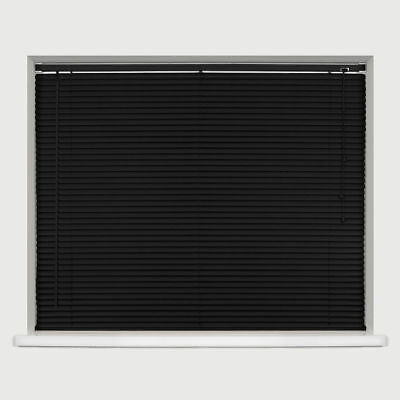 Black Classic Pvc Venetian Window Blinds Easy Fit Trimable Home Office All Sizes