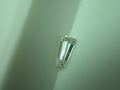 natural White Diamond Tapered Baguette gem FLUORESCENT genuine untreated b