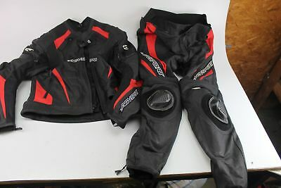 Agv Sport Delta Two-Piece Leather Suit Black/red Size 48