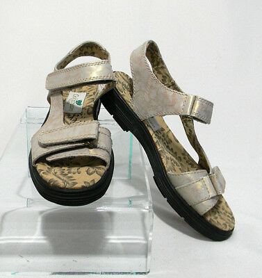 df32f8ae1fb Golfstream Sandals Shoes Womens Leather Size 7 Sz Rose Gold White Brown  Summer