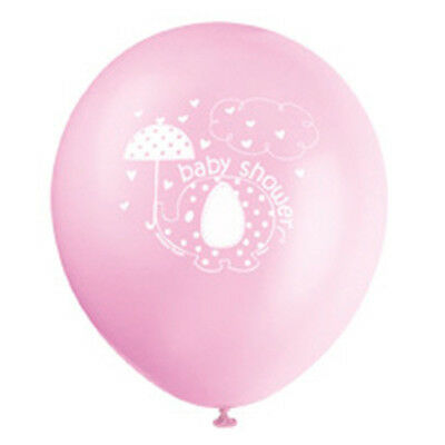 8 Pink Umbrellaphants Latex Balloons Helium Quality Decoration Baby Shower Party