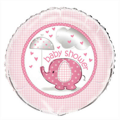 """Pink Umbrellaphants 18"""" Foil Balloon Helium Quality Decoration Baby Shower Party"""