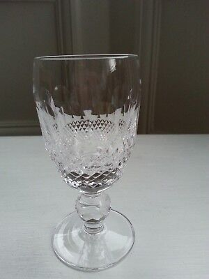 Waterford Crystal Ireland Sherry Glass In The Colleen Pattern Acid-Etched Base