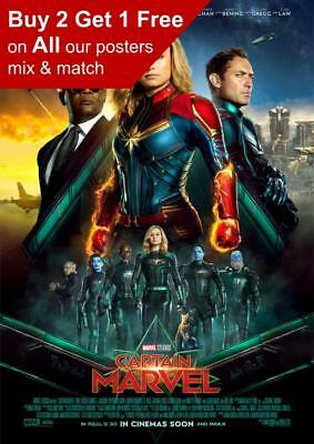 Captain Marvel 2019 International Movie Poster A5 A4 A3 A2 A1
