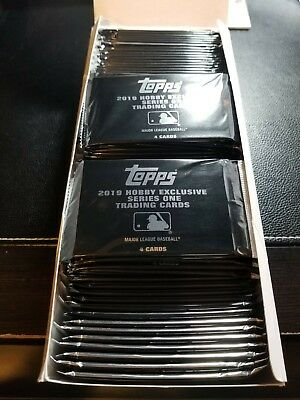 2019 Topps Series 1 SEALED SILVER PACK Hobby Exclusive QTY AVAIL 1984 CHROME