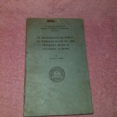 1939 SMITHSONIAN BUREAU AMER ETHNOLOGY #122 Archeological Survey- WHEELER BASIN