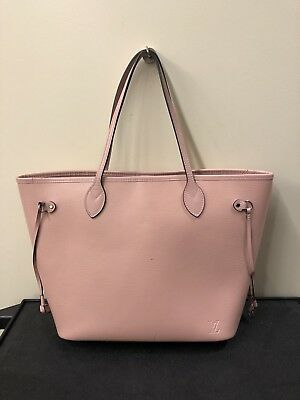 228e9dbd3 Auth LOUIS VUITTON Neverfull MM M41324 Rose Ballerine Epi Tote And Pouch