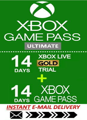 Xbox Live 14 Day Gold Trial Membership Code (2 Weeks) - Instant Delivery 24/7