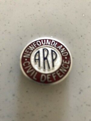 newfoundland collectable ww2 air raid pin
