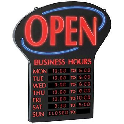"LED Sign & Poster Kits Lighted Business""OPEN"" Sign, Electronic Programmable With"