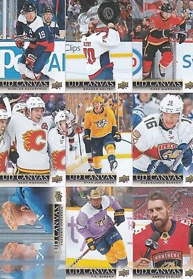2018-19 Upper Deck Series 1 Ud Canvas Lot Of 9 Brand New