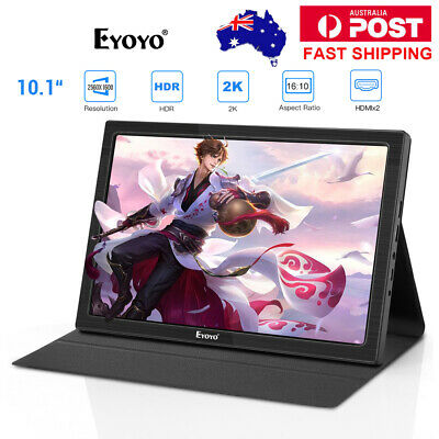 """Portable 10"""" Inch 2K HDR IPS HDMI Gaming Monitor 2560x1600 For Raspherry Pi PC"""