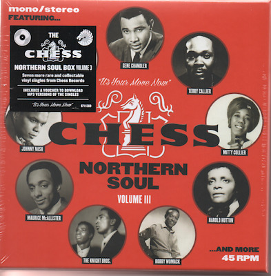 "CHESS NORTHERN SOUL VOLUME 3  7X 7"" VINYL BOX SET NEW & SEALED LTD EDITION 45s"