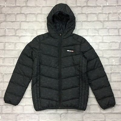 24ac2f8d2 ELLESSE BOYS 13-14 Years Osvaldo Speckle Jacket Junior Black Padded ...