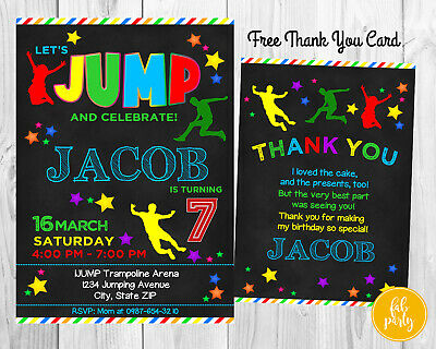 Personalized DIGITAL Jump Trampoline Bounce Birthday Party Invitation DIY Print