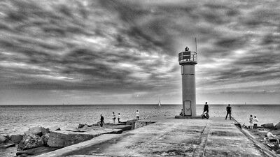 Digital Picture Image Photo Wallpaper Lighthouse  BnW 2  Desktop Screensaver JPG