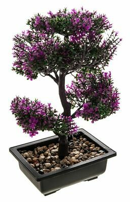 Artificial Bonsai Tree Plant Fake Flower Home Desk Decor Indoor Japanese Chinese