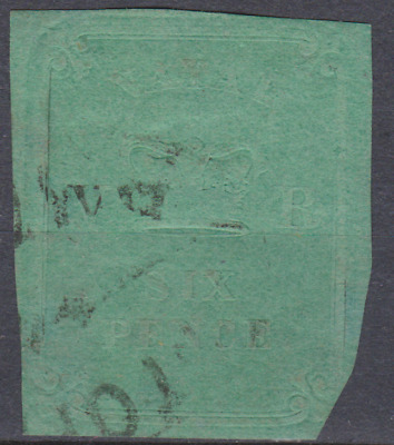 Natal 1857 Used 6d Green SG5 Cat £1100