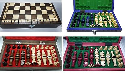 High Quality HAND CRAFTED WOODEN CHESS SET Folding Board Game