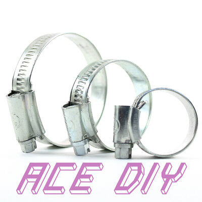 BZP Hose Clip ACE Jubilee Bright Zinc Plated Worm Screw Drive Spring Band Clamp