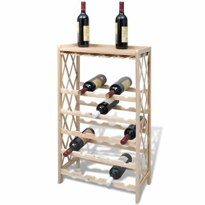 Wine Rack for 25 Bottles Wood Drink Storage Cabinet Organizer - FREE SHIPPING