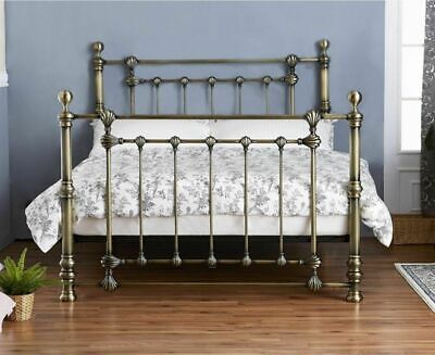 Victoria Traditional 5ft King Size Brass Finished Bed  with a choice of Mattress