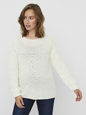 Mamalicious Maternity Jumper Sweater Cream Knit Pregnancy RRP £32 UK SELLER