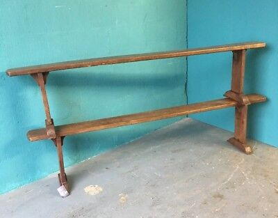 Victorian French Chestnut Antique Bench Pew Matching Pair