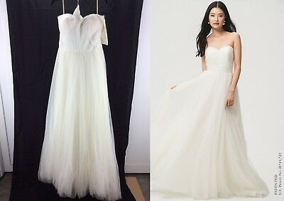 59d0e0ab01f JENNY YOO EVERLY -Sweetheart Tulle A-line Convertible Wedding Gown -Ivory-Size
