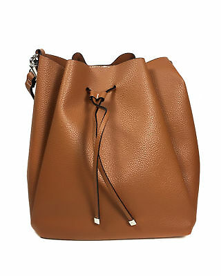 845a51c3acf ZARA FAUX LEATHER bucket bag with topstitched handle tan NEW ...