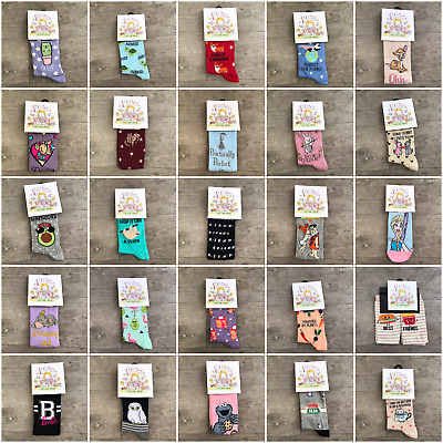 Ladies Character Socks Womens Gift New Look Novelty Funny Fashion Casual Pair