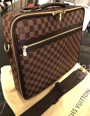 Louis Vuitton Brown Damier Ebene Coated Canvas Sabana Computer Case Mb2171 df29862ae1370