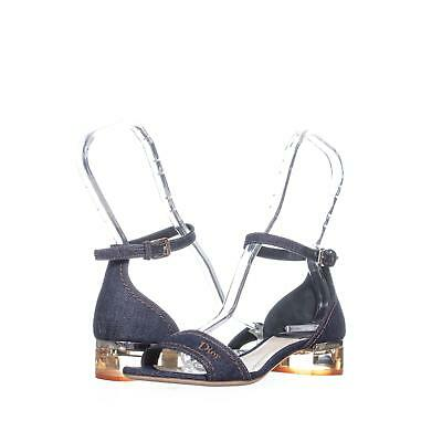 d120b05771f DIOR CUBE BLOCK Heel Ankle Strap Sandals 633