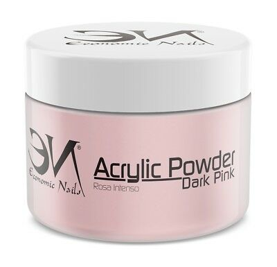 Polvo Acrilico Dark Pink (Rosa Intenso) 200g - Alta calidad de Economic Nails