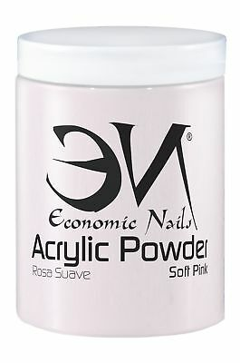 Polvo Acrilico Soft Pink (Rosa Suave) 500g - Alta calidad de Economic Nails