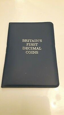 Britain's First Decimal coin set. Uncirculated --1/2 1 2 5 10 pence free postage