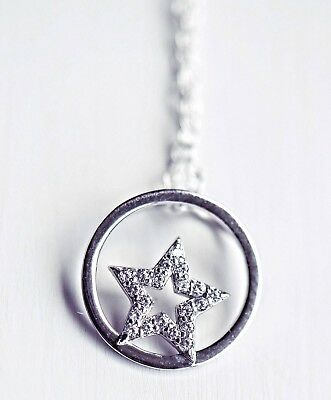 925 Sterling Silver Star Infinity Necklace FREE P&P & GIFT CARD Valentines