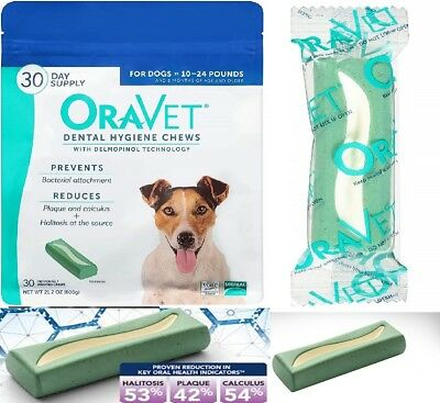 Oravet Dental Hygiene Chews Small Dogs Treats Anti Plaque Teeth Cleaning Merial
