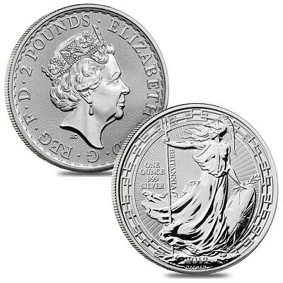 Lot of 2 - 2019 Great Britain 1 oz Silver Britannia Oriental Border Coin BU