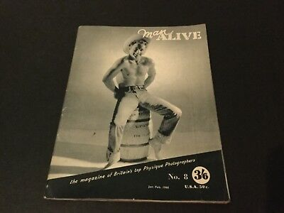 Rare vintage physique magazine Man Alive gay interest muscle beefcake no 8 1960