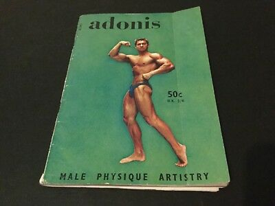 Vintage adonis male physique artistry magazine 1962 muscle beefcake gay interest