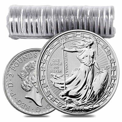 Roll of 20 - 2019 Great Britain 1 oz Silver Britannia Oriental Border Coin BU
