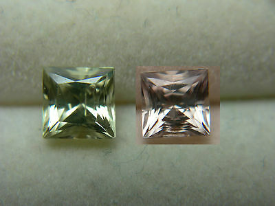 very rare gem Diaspore Color Change gemstone Bafa Lake, Turkey Princess Cut 0.75