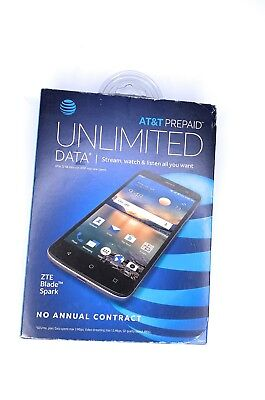 AT&T PREPAID ZTE Blade Spark Z971 16GB 4G LTE Smartphone (AT&T) Grey New