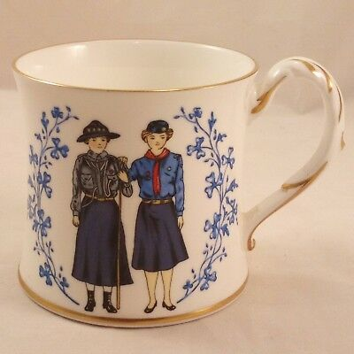 Vintage Coalport Bone China Mug Girl Guides Assoc. 75th Anniversary 1910 to 1985