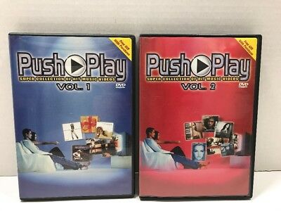 Push Play DVD Volume 1 & 2 Super Collection Of Hit Music Videos 26 Videos
