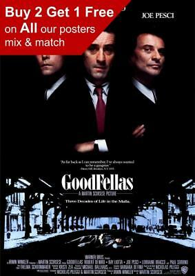 Goodfellas 1990 Movie Poster A5 A4 A3 A2 A1